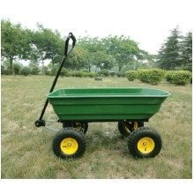 Homcom 75l Garden Cart 4 Wheel Trolley  Wheelbarrow Tipping Truck