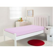 Waterproof Fitted Sheet - Single - Pink