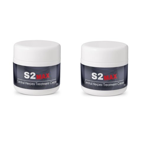 2 x S2 MAX Genital Herpes Treatment Cream 50ml