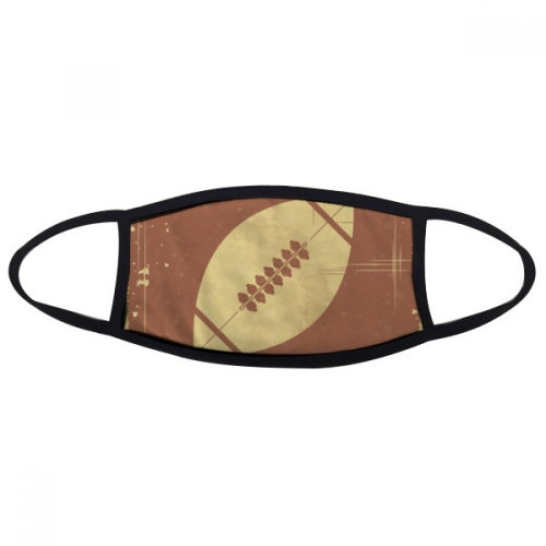 Football Sport Illustration Brown Pattern Mouth Face Anti-dust Mask Anti Cold Warm Washable Cotton Gift