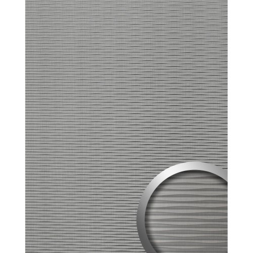WallFace 15681 MOTION TWO Wall panel 3D textured grey brushed mat | 2.60 sqm