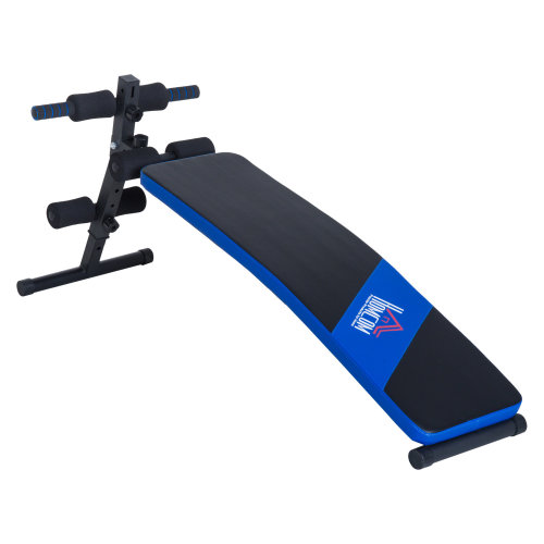 HOMCOM Sit-up Workout Bench, Steel-Black/Blue
