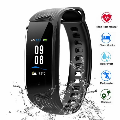 HONITURE Fitness Tracker Waterproof IP68, Activity Tracker Heart Rate Monitor Colour Screen Smartwatch Sleep Monitor, Step Counter GPS Pedometer...