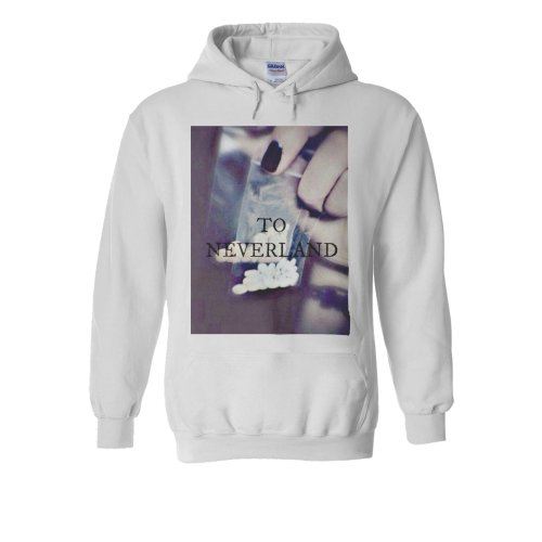 Neverland Drug Pill Never Land Funny White Men Women Unisex Hooded Sweatshirt Hoodie