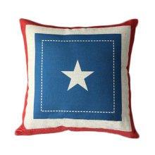Cotton Linen Throw Cushion Cover And Inner Pillowcase 45*45cm Pentagon