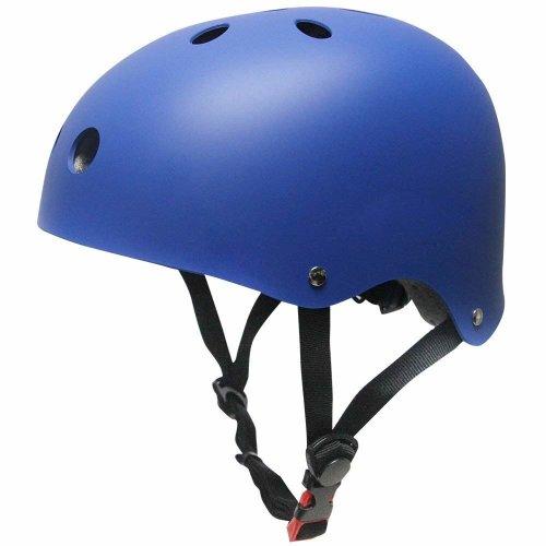 SKL Kids Scooter Helmet Skateboard Helmet for Toddler (V2.0 Blue, 45-51cm)