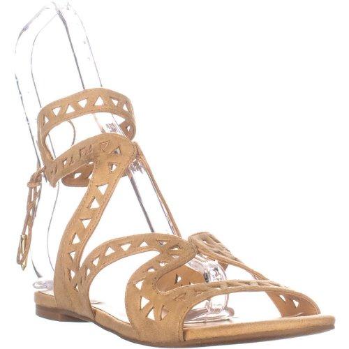 Daya by Zendaya Stella Flat Sandals, Buff Micro, 5.5 UK