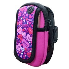 Waterproof Outdoor Sports Armband Cellphone Bag-Stripe Printing