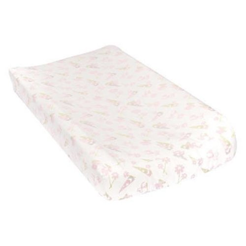 TrendLab 101382 Garden Gnomes Deluxe Flannel Changing Pad Cover