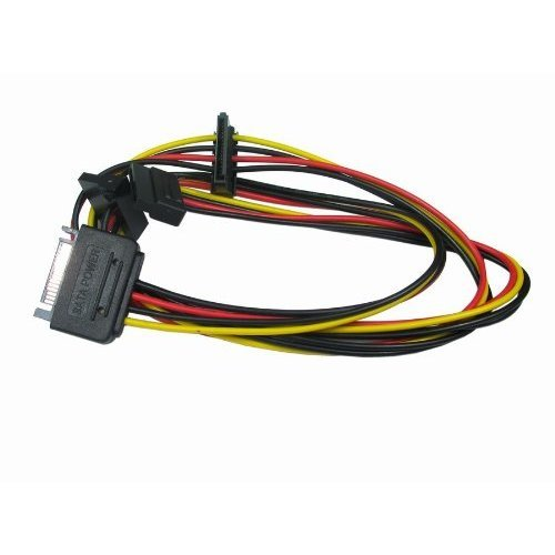 rhinocables® SATA Serial ATA Power Splitter lead 1 Male to 3 Way Female Triple Output Cable E1114