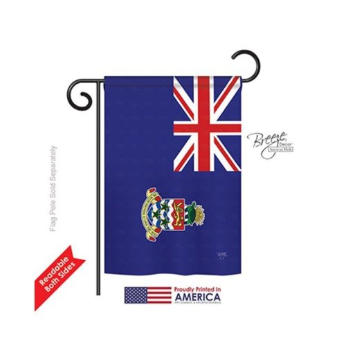 Breeze Decor 58266 Cayman Islands 2-Sided Impression Garden Flag - 13 x 18.5 in.