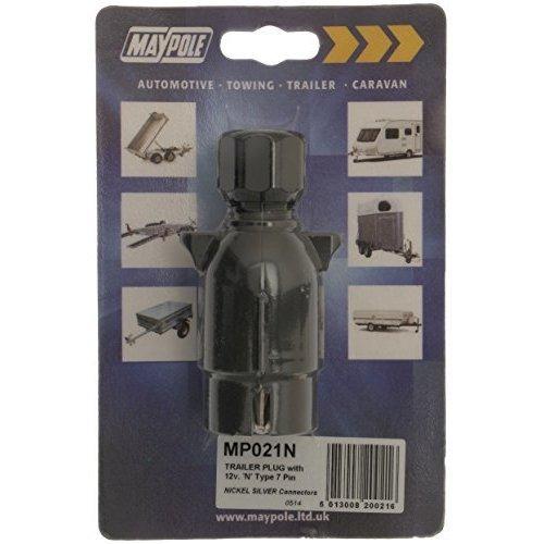 12n Plastic Plug With 7 Pin Nickel Connectors Dp - Maypole 021n 7 New -  plug nickel 12n maypole 021n 7pin new