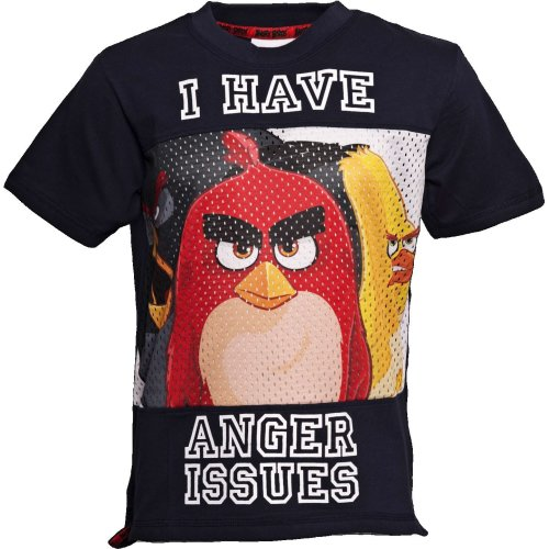 ANGER ISSUES | ANGRY BIRDS MOVIE | Baseball Style T-Shirt | Age 7-8
