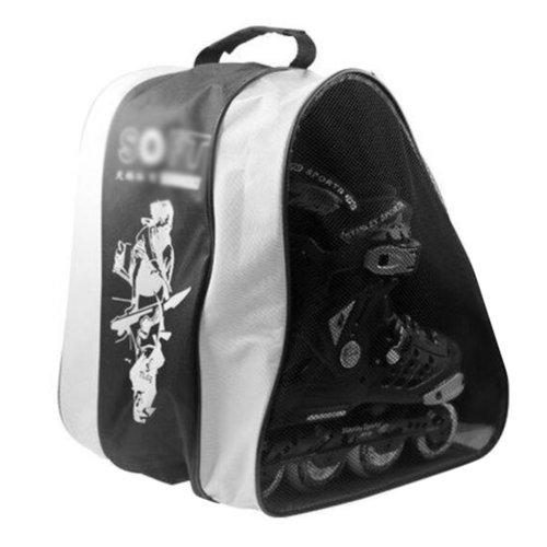Ice Skate Backpack Skate Carry Bag Skate Blade Shoe Bag-13Random Pattern