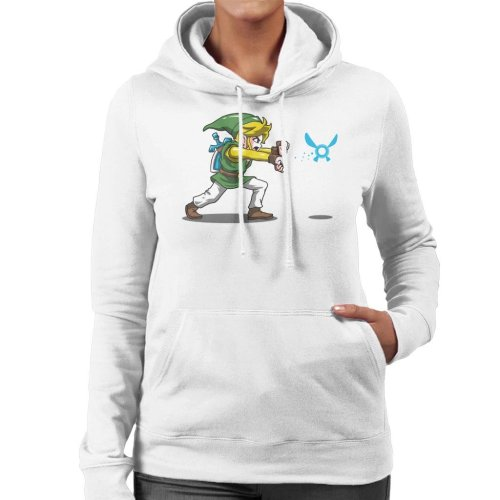 Hadoulink Legend Of Zelda Hadouken Street Fighter Women's Hooded Sweatshirt