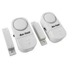 2 Piece Door And Window Entry Alarm Set -  alarm entry door window security set home 2pc burglar piece device alert easy