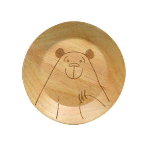 Wooden Dinnerware Fruit/ Meat/ Dessert Plates Round Shape Dishes 15 CM-A5