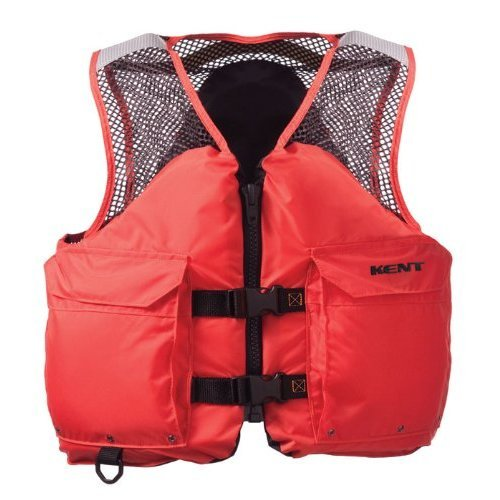 Kent Mesh Deluxe Commercial Life Vest - Persons over 90-Pounds. (Orange, Small, 32-36-Inch Chest)