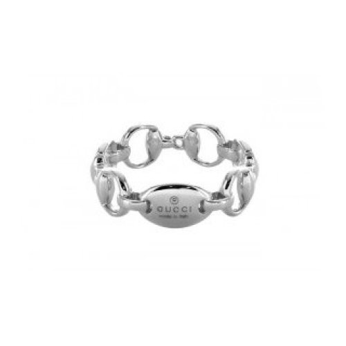 GUCCI HORSEBIT RING 18KT WHITE GOLD MEASUREMENT 12 181361 J8500 9000