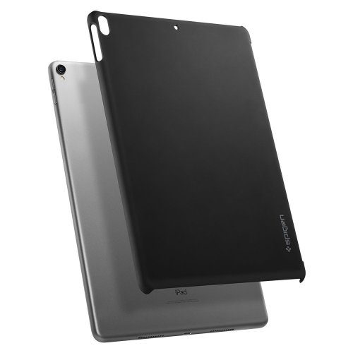 uk availability ae51a 13444 Spigen iPad Pro 10.5 Case, [Thin Fit] Compatible with Apple Keyboard  [Black] Slim Hard back cover with Non Slip Matte Surface with smart  keyboard...