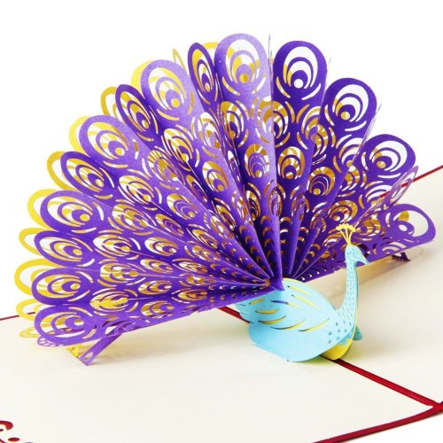 OSUNP Peacock 3D Pop Up Greeting Card Handmade Birthday Wedding Invitation Gift Cards For Anniversary Friendship Best Wish Good Luck On OnBuy