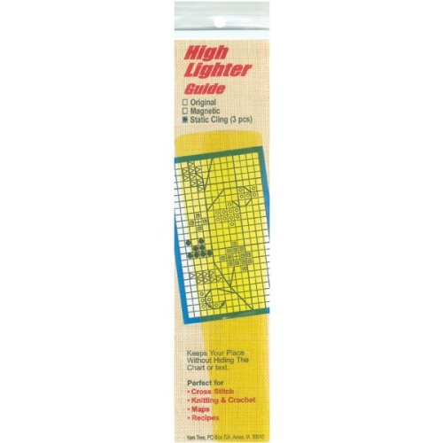"Yarn Tree Static Cling High Lighter Guides 6""X1"" 3/Pkg-Yellow"