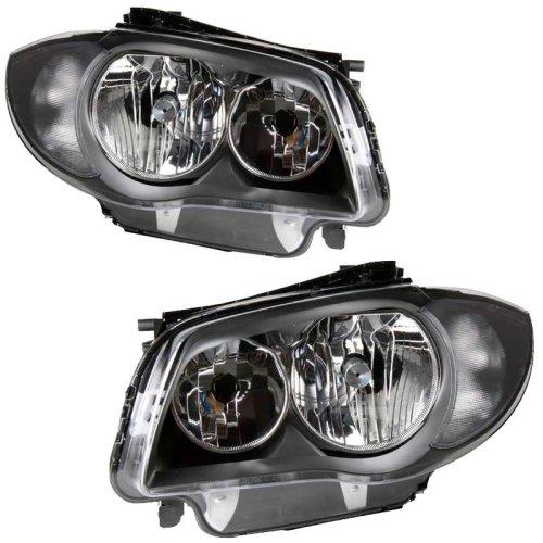 Bmw 1 Series E87 2/2007-7/2012 Headlights Headlamps 1 Pair O/s & N/s