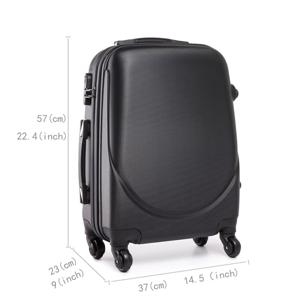 778e4d6b4 ... KONO Luggage Suitcase Travel Bag Cabin Trolley Case 4 Wheels Spinner  Hard Shell ABS 20 Inch ...