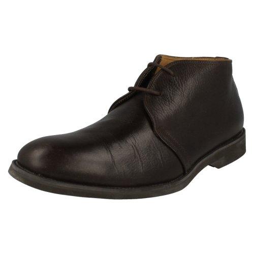Mens Anatomic Lace-Up Floater Shoes Jardins - Dark Brown Leather - UK Size 8 - EU Size 42 - US Size 9