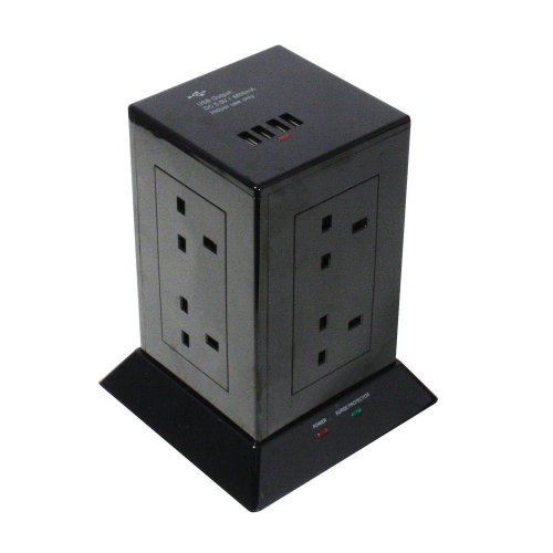 Lindy 73061 power extension 1.5 m 8 AC outlet(s) Indoor Black