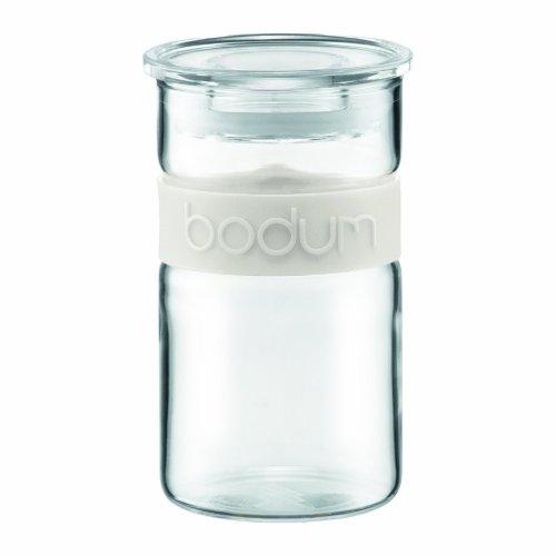 Bodum Presso Storage Jar, Borosilicate Glass - 0.25 L, Off-White