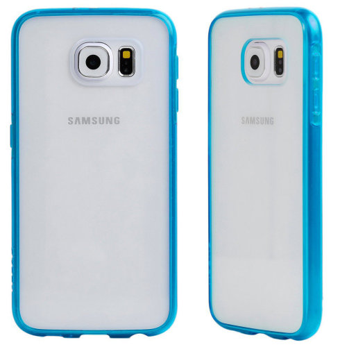 Skech Crystal Hard Shell Clear & Blue Cover for Samsung Galaxy S6 G920F Fitted Case