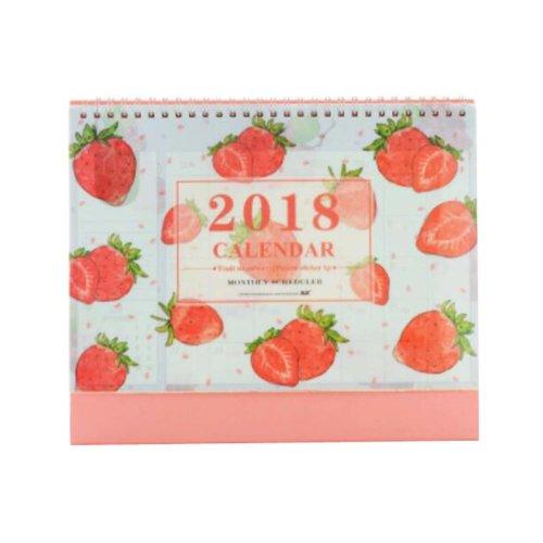 Creative Fruit Style 2017-2018 Office/Desk/Pad Calendar-Strawberry