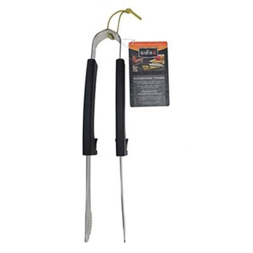 Mr. Bar-B-Q Products LLC. 246401 Stainless Steel Construction Plastic Kickstand Grill Tongs