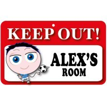 Keep Out Door Sign - Alex's Room