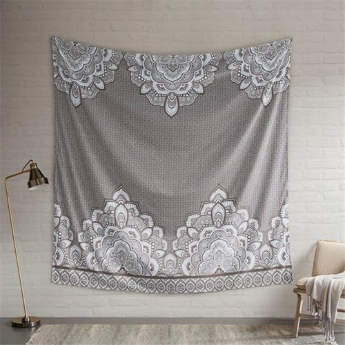 Intelligent Design ID51-1184 90 x 90 in. Isabella Printed Wall Tapestry - Grey