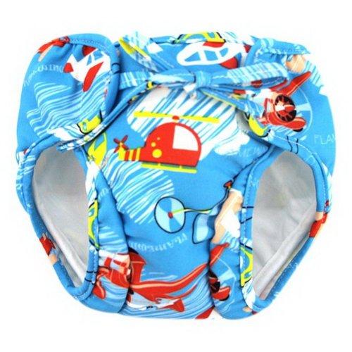 Baby Swim Trunks 0-3 Infants waterproof Swimsuit Leakproof Swim Shorts, Airplane