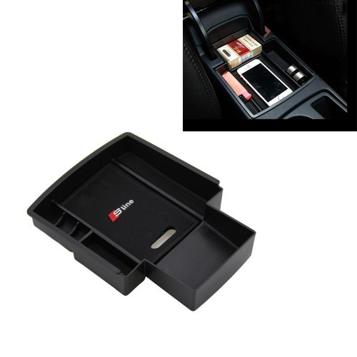 Car Glove Box Armrest Storage Box Organizer for A4 B8 A5 S5 2009-2016Central Console Compartment