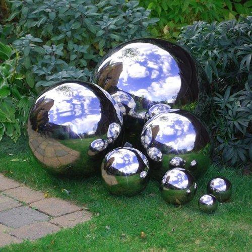 35cm Stainless Steel Mirror Sphere Garden Feature