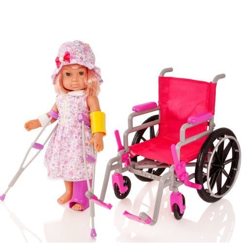 "Molly Dolly 18"" Doll Wheelchair Set"