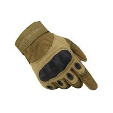 High Quality Wear-resistant Antiskid Rock Climbing Riding Gloves BROWN, L