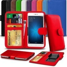 """iTronixs - Archos 50f Neon (5"""") High Quality Clamp Style PU Leather Wallet Case Cover"""