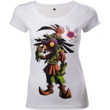 Legend Of Zelda Majoras Mask Womens Skinny T-Shirt Medium White - TS221212ZEL-M