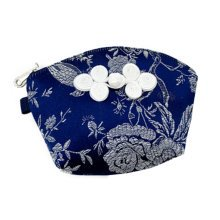 Set of 2 Traditonal Chinese Embroidered Jewelry Coin Pouch Bag Wallet Purses   B