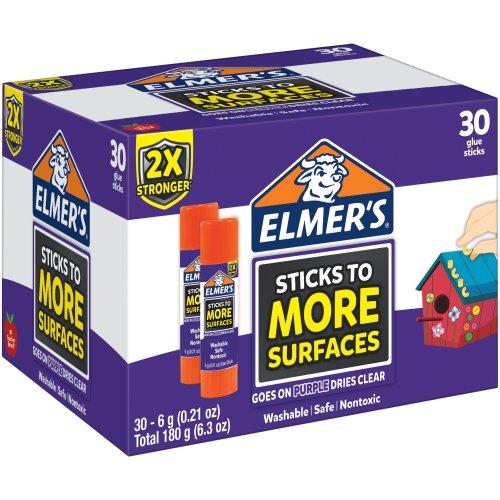 Elmers Extra Strength Glue Sticks 30/Pkg-.21oz Each