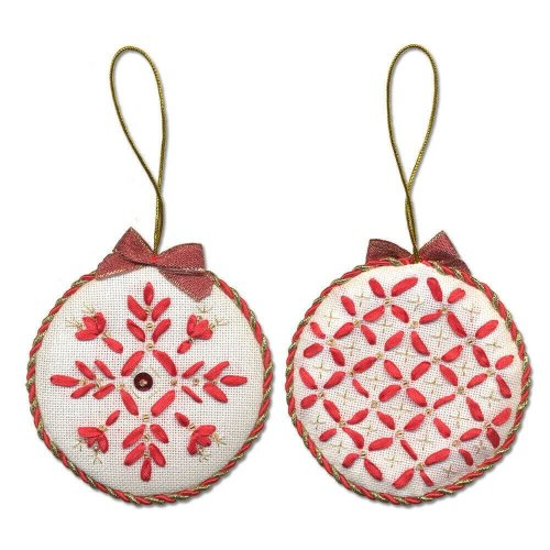 Panna Embroidery Kit - IG-1275 Christmas Decoration. Bauble -  beads,ribbons