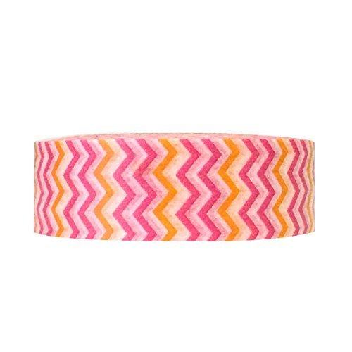 Wrapables Colorful Patterns Washi Masking Tape Warms Short Chevron