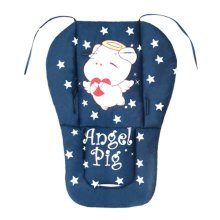 Soft Thicken Baby Strollers Mat Stroller Seat Liners - Deep Blue Pig