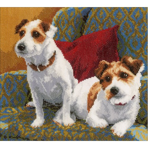 """LanArte Counted Cross Stitch Kit 11.2""""X11.2""""-Best Friends For Life (27 Count)"""
