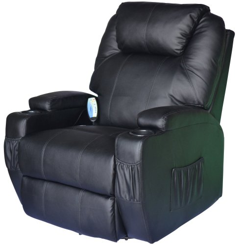 Homcom Leather Massage Recliner Chair | Heated Massage Chair
